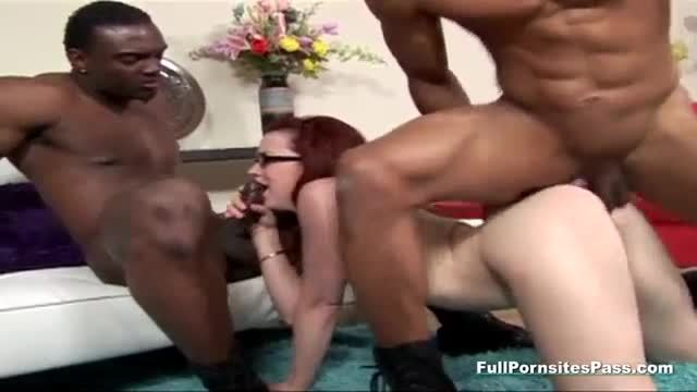 Two black boners is all she needs