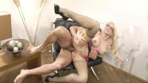 Hot fetish stacy silver on stocking nailed in her ass