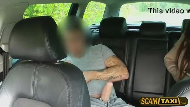 Lana pays the driver with a blowjob and then he fucks her